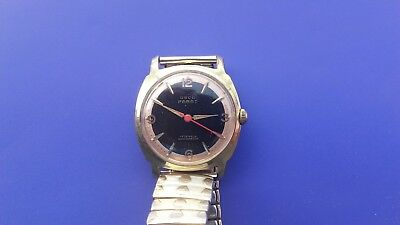 VINTAGE OSCO PARAT MENs WRIST WATCH-50s/60s-MADE IN GERMANY-GOLD PLATED-WORKING
