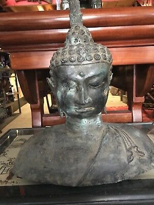 Bronze Thai Buddha Sculpture 33cm Tall
