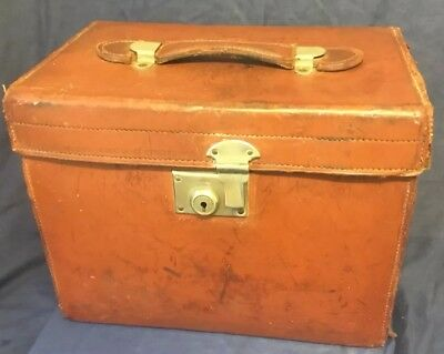 Antique Vintage Leather Hatbox SCOTT & Co PICCADILLY LONDON for Restoration