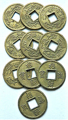 10 Chinese Lucky Coins Wealth Coins Feng Shui Wealth Abundance Chinese New Year