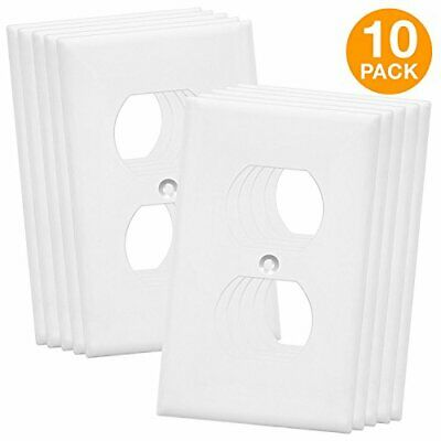 Duplex Wall Plates Kit by Enerlites 8821-W Home Electrical Outlet Cover,...