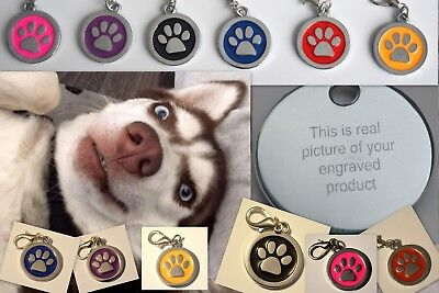 ENGRAVING Dog ID / Cat ID Name Tag Personalised Puppy Pet ID Tags UK