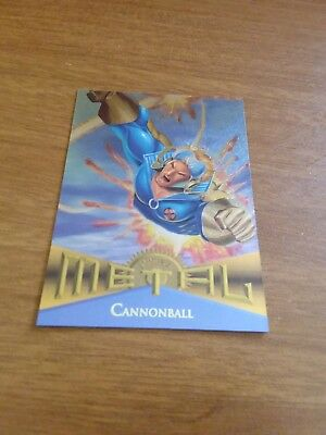 Marvel Metal 1995 Trading Card CANNONBALL