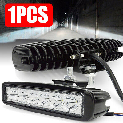 Durable 6 LED 18W Work Light Bar DRL Driving Fog Spot Lamp For Offroad Car Truck