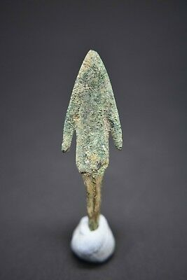 Ancient Greek bronze barbed type arrow head C. 6th - 4th century BC