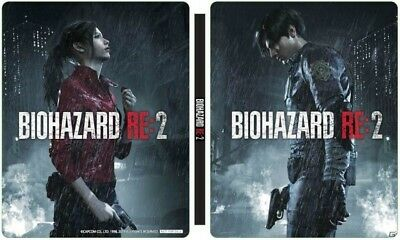 PS4 Resident Evil Biohazard Re: 2 Geo Store Ltd Steel Book Case w/out Game Soft