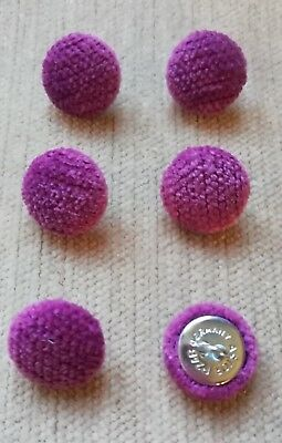 Chenille Velvet 36L//23mm Lupin Upholstery Fabric Covered Buttons Craft Purple
