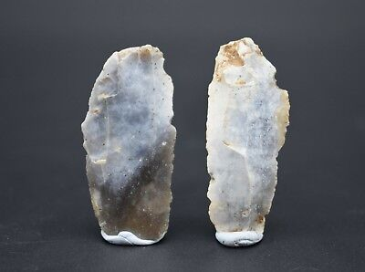 Group of 2 Neolithic flint scrapers C. 4500 - 2500 BC - British found
