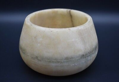 Ancient Bactrian alabaster stone pot C. 500 BC