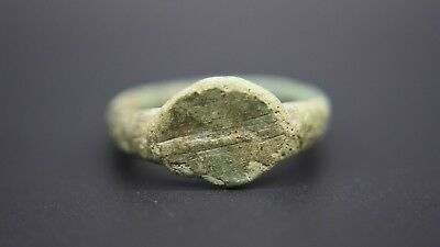 Medieval period bronze finger ring 13th - 15th century AD