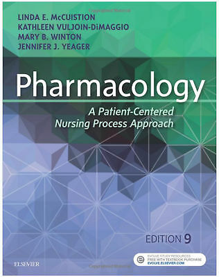 Pharmacology: A Patient-Centered Nursing Process Approach 9e McCuistion (PDF)