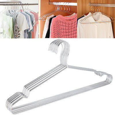 1Stk Stainless Steel Strong Metal Wire Hangers Clothes Shirt Coat Neu Pro..