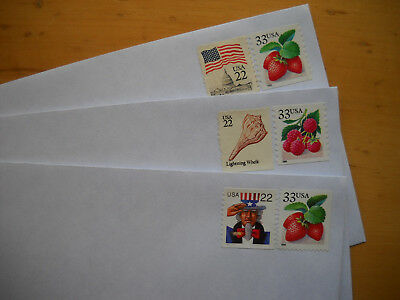 10 #10 stamped pull seal envelopes 55 c forever rate $5.50 face value