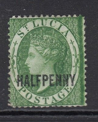 ST LUCIA-1881 ½d Green  Sg 23 AVERAGE MOUNTED MINT
