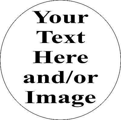 """Personalized 3"""" Circle Aluminum Metal Sign Customize with Text or Picture"""
