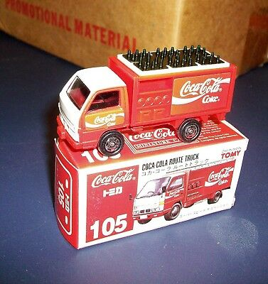 Tomy Coca Cola route delivery truck 105 Japan  new in box tomica ? coke