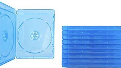 (10) Blu-ray Cases 10mm 2-Disc DOUBLE w/ Logo Empty Replacement Case NEW!