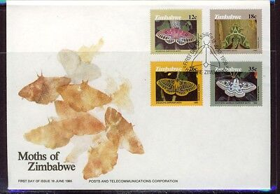 Zimbabwe 1986 MothsFirst Day Cover - Pictorial Cancel