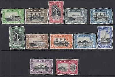 ST LUCIA-1936   mounted mint set to 10/- Sg 113-124