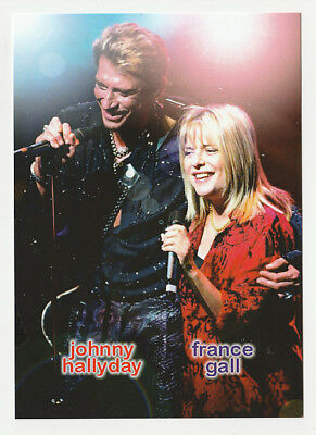 JOHNNY HALLYDAY carte postale n° ATHQ 335 FRANCE GALL
