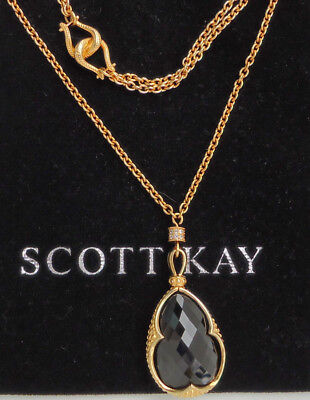 1bf221085 NEW $1100+ Scott Kay Guardian Gold Vermeil Black Spinel Pendant Sapphire  18