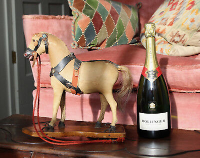 A Charming Antique Victorian Toy Horse on Wheels