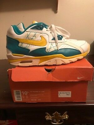 1cd1fafef4fa4 Nike Air Trainer SC Low Hectic White Goldenrod Mystic Teal 2003 306128-171