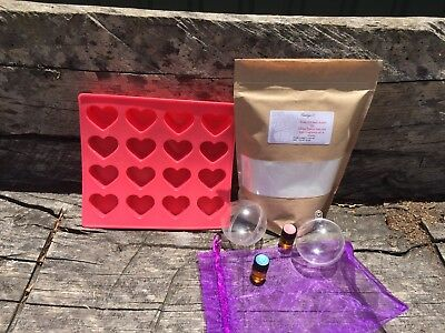 Create Your Own Bath Bomb Kit  - 500gm - Select Your Fragrance - Great As A Gift