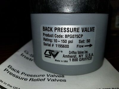 Griffco Bpg075Cp Pressure Reducing Valve 10-250Psi * New In Box
