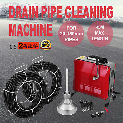 20-150mm Ø Pipe Drain Cleaner Machine Cleaning Induction Electric Snake Sewer