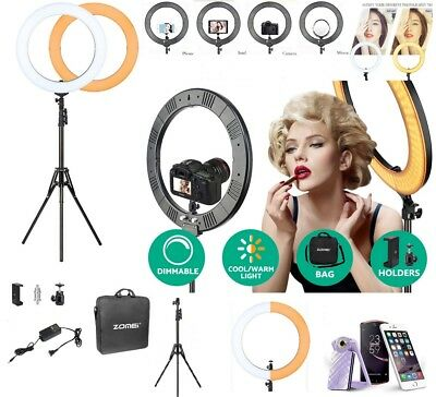 """18"""" SMD LED Ring Light Dimmable 5500K Continuous Lighting Photo Video Stand Kit"""