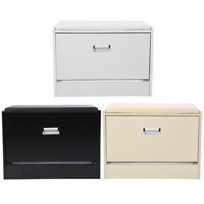 Entryway Shoe Bench Organizer Seat Wooden Cabinet Storage Wood Stand 3 Colors