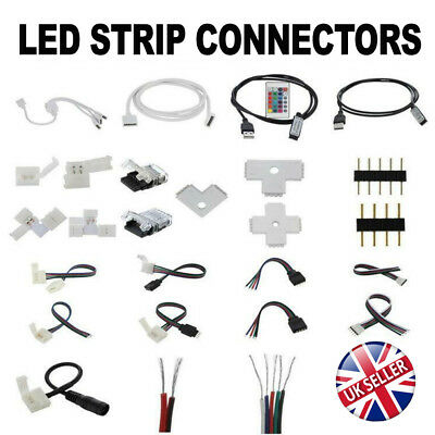 2/4/5Pin LED Strip RGB/W Hippo Adapter Clip Connector  Wire Extension Cable 5050