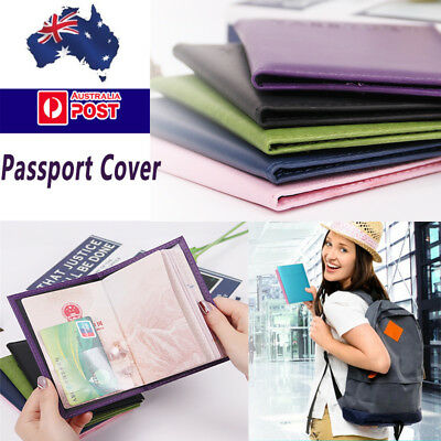 Passport Cover Travel Case Holder Wallet Organiser Protector PU Leather Bag AU