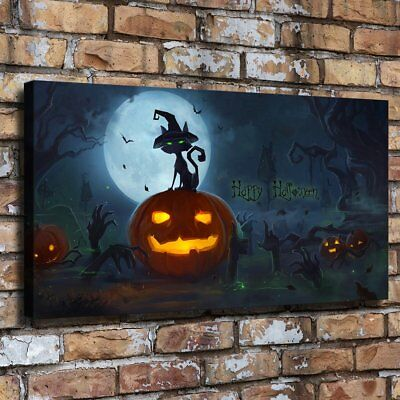 Halloween HD Canvas print Painting Home Decor Picture Room Wall art Poster 09597