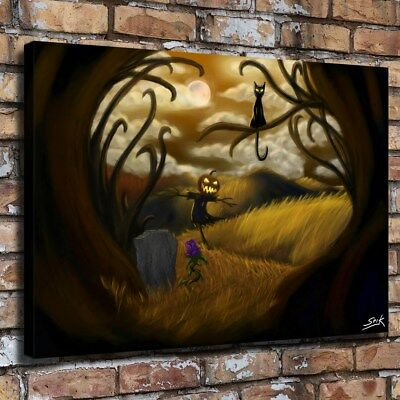Halloween HD Canvas print Painting Home Decor Picture Room Wall art Poster 09613
