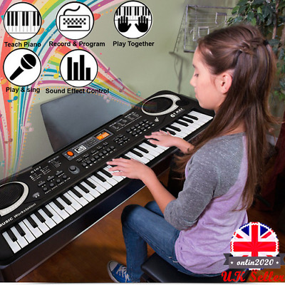 Music Keyboard 61 Keys Digital Electric Piano Musical With Mic For Children UK