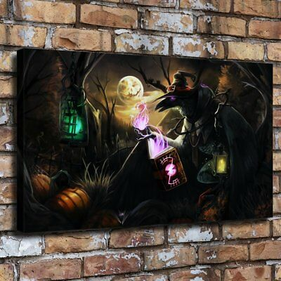 "12""x22""Halloween HD Canvas print Painting Home Decor Room Wall art Poster 09729"
