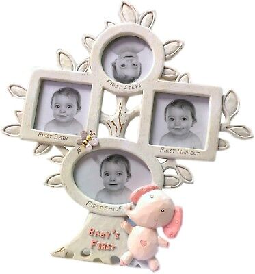 New BABY GIRL Baby's First Photo Frame Tree - Baby Shower Newborn Gift