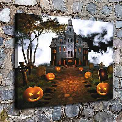 """12""""x16""""Halloween Castle HD Canvas print Painting Home Decor Picture Wall art"""