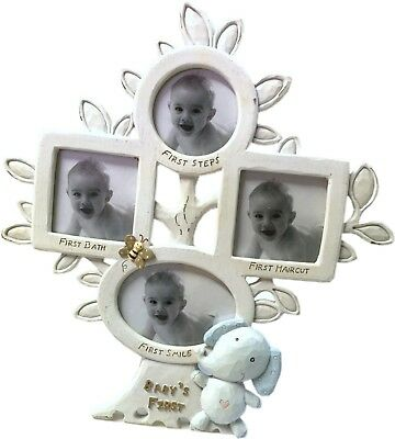 New BABY BOY Baby's First Photo Frame Tree - Baby Shower Newborn Gift
