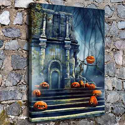 """12""""x16""""Halloween HD Canvas print Painting Home Decor Picture Wall art Poster"""