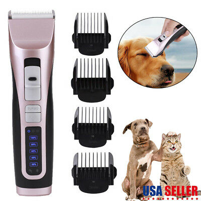 Electric Rechargeable Pet Dog Cat Hair Trimmer Shaver Razor Grooming Clipper Kit