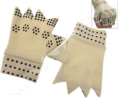 1 Pair Arthritis Pressure Magnetic Pain Relief Joint Therapy Support Gloves Nude