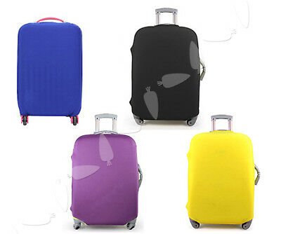 "Yellow Elastic Anti Dust Luggage Cover For 18 to 20"" Suitcase Travel Shipping"
