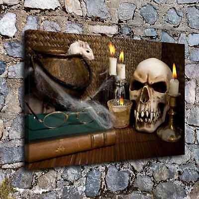 Halloween Skull HD Canvas print Painting Home Decor Picture Room Wall art H2254