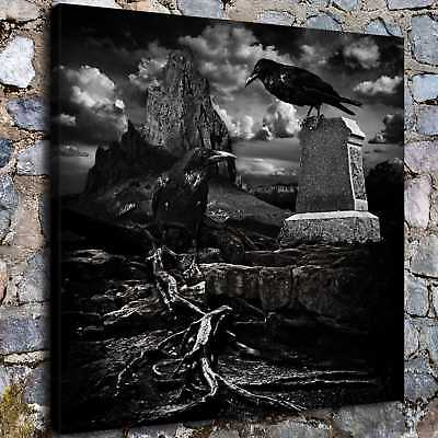 Halloween Crow HD Canvas print Painting Home Decor Picture Room Wall art H2260