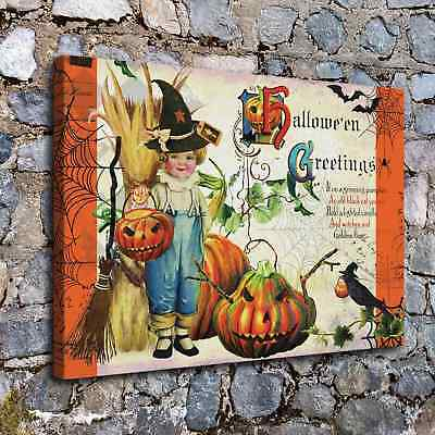 "12""x18""Halloween HD Canvas print Painting Home Decor Picture Wall art Poster"