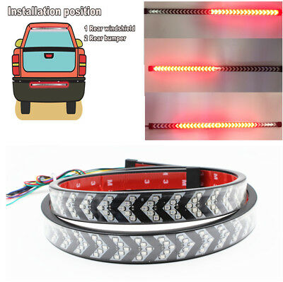 60cm Flowing Car Turn Signal Double Flash Brake/Running/Taillight/Reverse Light