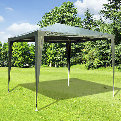 Outsunny 2.7x2.7M Garden Heavy Duty Gazebo Marquee Party Tent Canopy Green